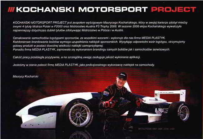 Referencje - Kochanski Motorsport Project