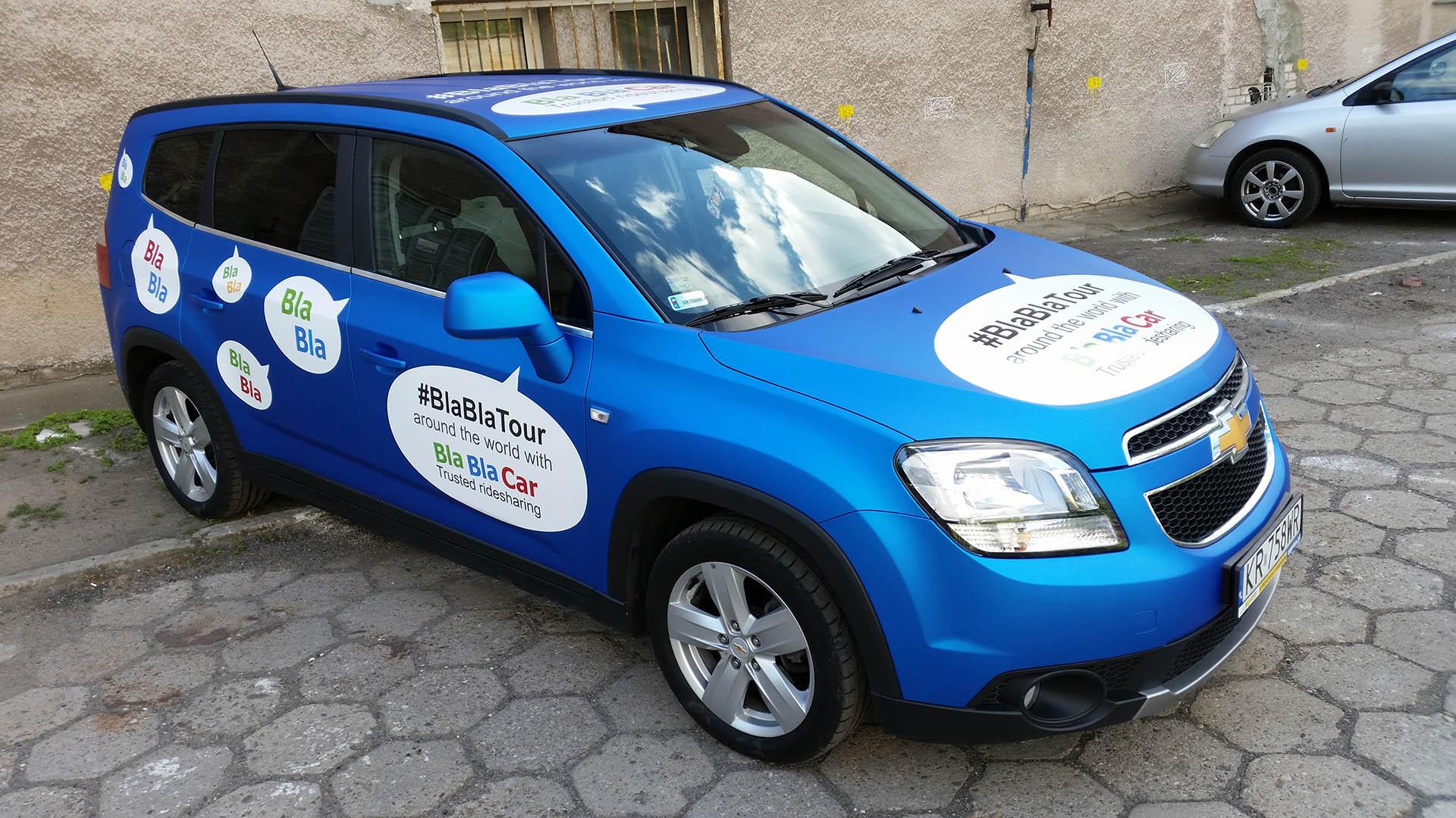 Blablacar Chevrolet Mediaplastyk Oklejanie Samochodów
