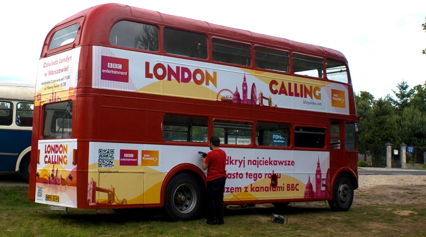 Oklejanie autobusu